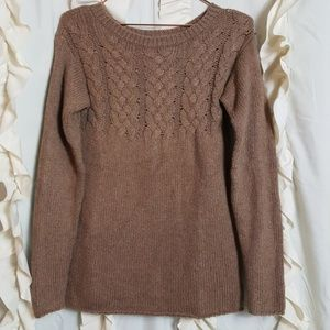 Roots Sweaters - Roots Canada cable knit sweater light brown